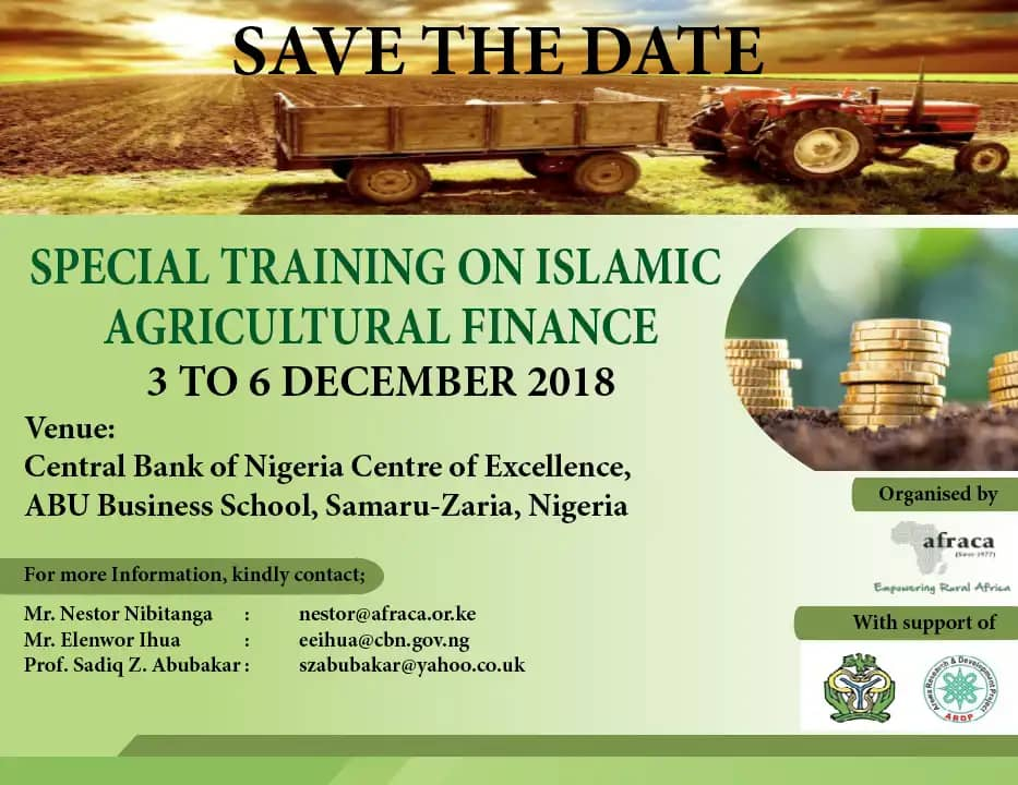 SPECIAL TRAINING ON ISLAMIC AGRICULTURAL FINANCE